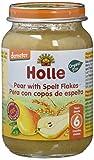 Holle Potito de Pera con Copos de Espelta (+6 meses) - Paquete de 6 x 190 gr - Total: 1140 gr