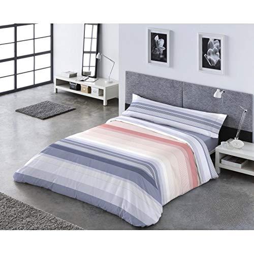 Catotex Funda NÓRDICA Reversible PASATA 3/Piezas, Modelo: Kent, Color: 1-Azul, Medida: Cama DE 105x190/200cm.