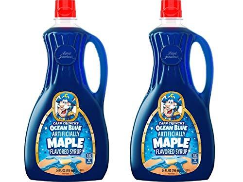Cap#039n Crunch#039s Ocean Blue Maple Syrup 24 oz Bottle 2 Pack