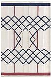 HAMID - Alfombra Kilim Yeste 100% Lana - Alfombra Suave y de Alta Resistencia - Tejida a Mano - Alfombra de Salón, Comedor, Dormitorio (D1, 180x120 cm)