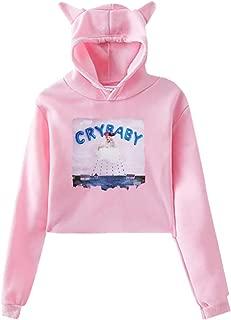Melanie Martinez Cry Baby Women's Dew Navel Funny Cat Ear Sweatshirt