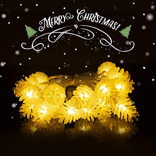 Weihnachten Tannenzapfen Form 20 LED Lichterketten Lampen Batteriebetriebene Indoor Outdoor Decor für Xmas Party Thanksgiving Hochzeit Schlafzimmer Wand Garten Baum Dekoration
