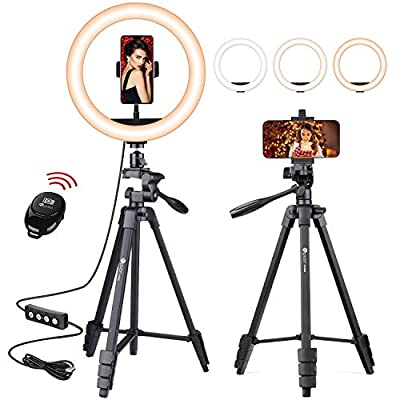 """VICIALL 10.3"""" Selfie Ring Light with Tripod Stand & Cellphone Holder for Live Stream/Makeup/YouTube Video/Photography Compatible with Phone and Camera,Dimmable Beauty Ringlight from VICIALL"""
