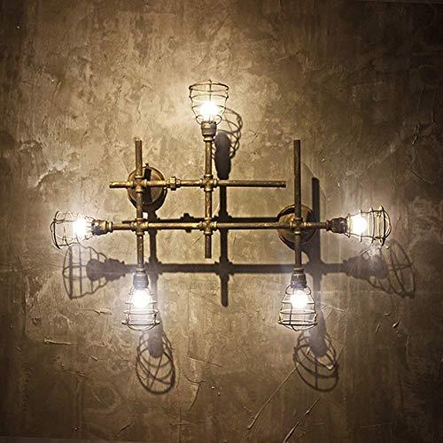 Mkjbd wandlantaarn, tuinlamp, wandlamp, retro loft-lamp, industriële wandlamp met windslang, industrieel hotel, creatieve woonkamer, café, restaurant