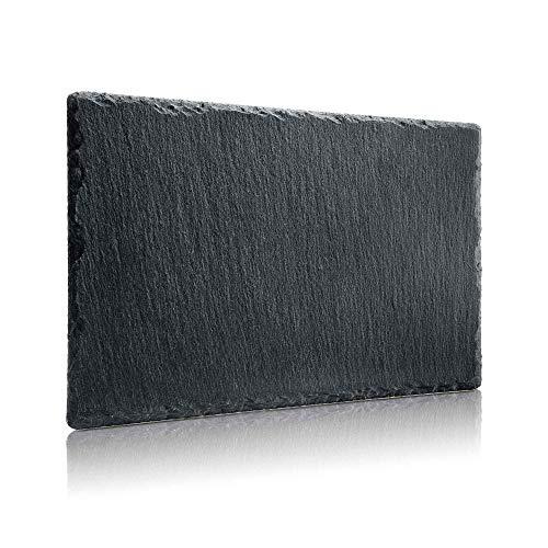 BonAura Schieferplatten - Schiefer Tischuntersetzer Servierplatten zum Anrichten & Dekorieren von Gerichten 20x30cm (1)