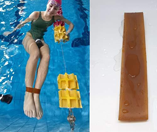 SWIMXWIN FERMACAVIGLIE 100% Gomma Naturale Morbida, Confortevole e anallergica Natural Rubber Allenamento Professionale Nuoto Made in Italy