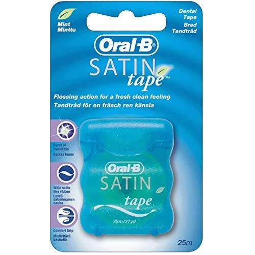 Sechs Packungen von Oral B Satin Floss mint 25m