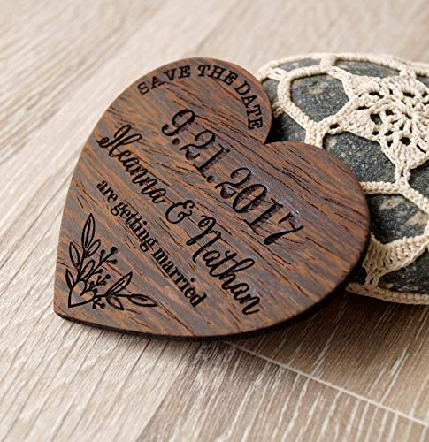 Save the dates, wooden save the date magnets, heart save the dates, rustic save the dates, wedding save the dates, wedding magnets, 25 pc