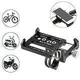 Docooler Porta Cellulare Bici Lega di Alluminio per Staffa di Montaggio per 3.5 -6.2 Inch Telefono Mobile