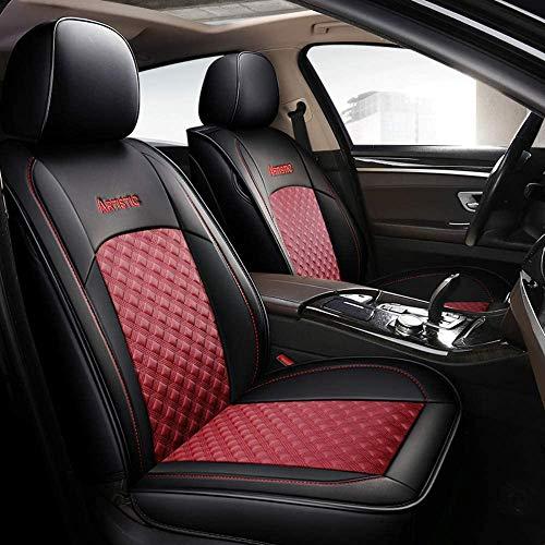 Yshuai - Fundas de asiento de coche universales de cuero para Peugeot 307, 308, 407, 508, 508, 4007,