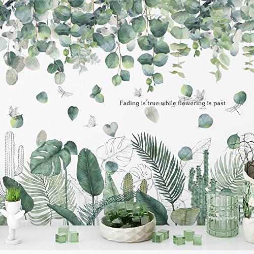 Neue mehrere Stile Fallen Lassen Blatt Pflanze Schlafzimmer Hintergrund Fenster Dekor dekorative Wandtattoos Zitat Vinyl Wandaufkleber