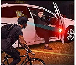 QAWACHH Universal Wireless Waterproof Car Door 5 LED Opened Warning Flash Light,Red(2Pairs 4Pcs)