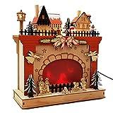 """Wichtelstube-Kollektion """"Weihnachtskamin LED Weihnachtsdeko aus Holz Weihnachtsdekoration inkl. Trafo"""