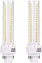 LEGELITE 2 Pack GX24 Led Bulbs 12W 1200Lumen 85-265V AC 3000K Warm White(Remove/Bypass Your Ballast)