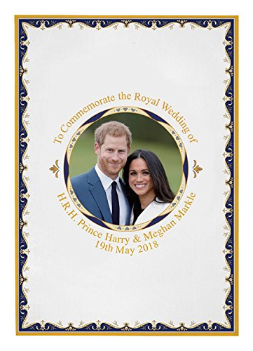 Royal Heritage H.r.h Harry et Megan Markle Mariage commémorative de décoration Murale, Coton, Multicolore, 70 x 50 x 0.5 cm