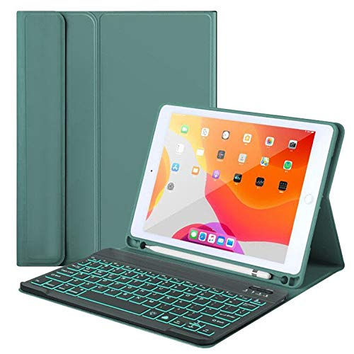 New iPad Keyboard Case for iPad 10.2' 8th/7th Gen iPad Pro 10.5 (Air 3) - 7 Colors Backlight, Magnetically Detachable Wireless Keyboard - Folio Cover for iPad 10.2', Tablet Case for iPad 2020/2019