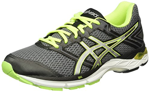 Asics Gel-Phoenix 8, Zapatillas de Running para Hombre, Gris (Carbon/Silver/Safety Yellow), 44.5 EU