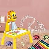 LUCEISS Tavolino da Disegno con Proiettore - Tavolo da Disegno per Bambini,Lavagna per Bambini con Cavalletto,Lavagna Luminosa per Disegnare Proiettore (B)