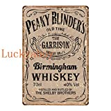 N/C British High Score Crime Drama Poster Whiskey Vintage Tin Sign Retro Metal Sign Shabby Chic Wall Decor 20x30cm SW577
