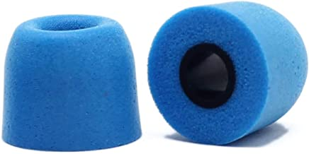 Earphone Tips Replacement Zisure Noise Reducing Memory Foam Earbuds Tips Cover Cap Inner Hole 4.5mm Fit for in-Ear Headphones with 4.7mm-5.5mm Nozzle (Blue, Medium, 2 Pairs)