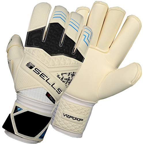 Sells Wrap Elite Aqua Campione Junior - Guantes de Portero, fútbol, Color Blanco, tamaño 6