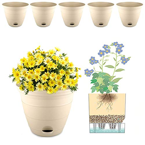 15 cm vaso da fiori autoirrigante vaso di stoccaggio dell'acqua vaso da fiori vaso profondo vaso fioriera contenitore per piante da appartamento, fiori, erbe, piante grasse decorazione della casa