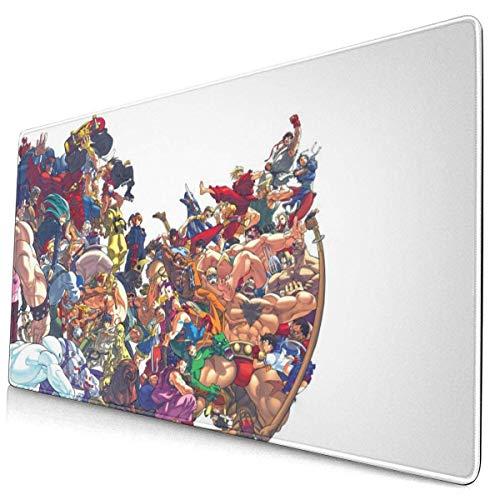 Street Fighter - Alfombrilla de ratón rectangular de goma antideslizante para ordenador portátil y PC de 15,6 x 29,5 pulgadas