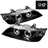 LED halo Headlights for BMW Z3 96-02 - Black/Clear Lens