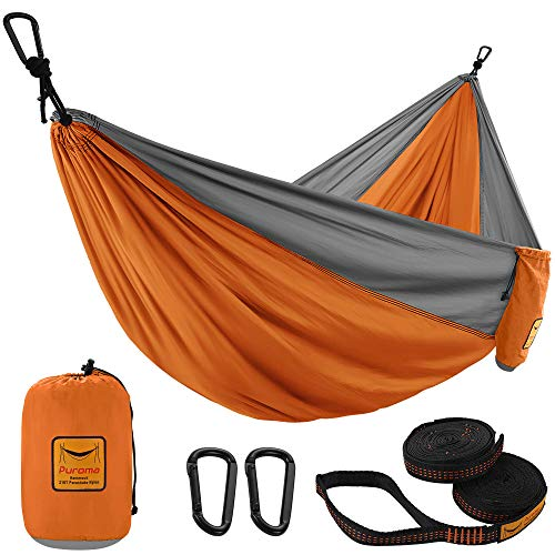 tra backpacking camping for trees suitable for camping small objects blocking mesh upgraded 2-in-1 flip-type light portable hammock bearing 661 pounds survival OSPUORT Outdoor camping hammock
