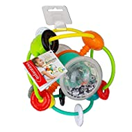 This activity ball is very easy to catch and manipulate In its centre, the transparent sand wand part will bring musicality to your little loved! The small coloured beads make a nice sound, attract the eye and stimulate baby. Baby does not get tired ...