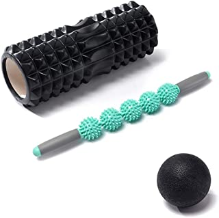 3-in-1 Foam Roller,Trigger Point Rollers Perfect for Deep Tissue Massage of Painful Tight Muscles and Myofascial Release