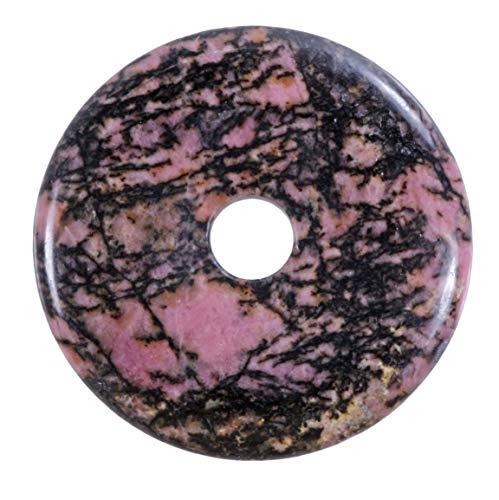 Lebensquelle Plus Rhodonit Edelstein Donut Ø 40 mm Anhänger