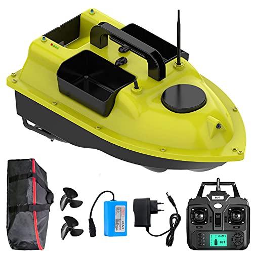 YXRJJT Barco Cebador Carpfishing, Barco de Cebo de Pesca con GPS, Barco Teledirigido de Pesca para Ríos y Lagos, Crucero Automático de Posicionamiento GPS de 500 M, Herramientas de Pesca