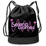 Hdadwy Selena_Gomez_3 Paquete de Personalidad multifunción Mochila Bolsa con cordón Bolsa Deportiva para Todos