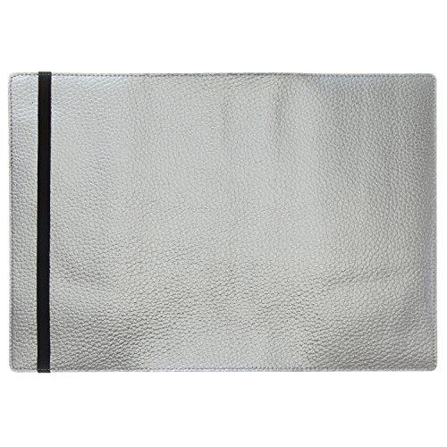 ラコニック 手帳カバー A5 合皮+ゴム シルバー LDC08-160SV