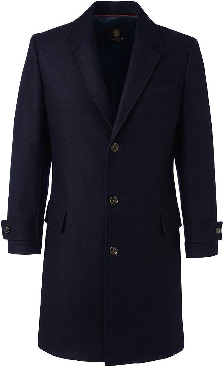 Lands' End Men's Wool Overcoat