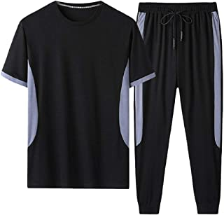 Gocgt Men's Casual Tracksuit T-Shirts Top Shorts Running Jogging Athletic Sports Set