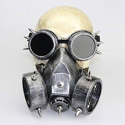 YUHUANG Halloween, Retro Gotische Steampunk Gas Masker Victoriaanse Goggles Halloween Party Cosplay Kostuum Kostuum Party