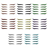 Oyria 40 Pares de Pegatinas delineador de Ojos para Ojos Delineador de Ojos Adhesivo Reutilizable Pegatinas de Maquillaje de párpados Smokey Eyes Eyeliner Eye Makeup Tool