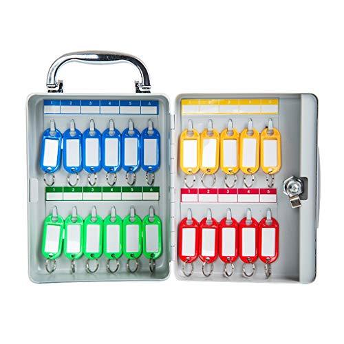 Armoires à clés Mural boîte Clé Portable 22-100 clé Bureau de Gestion centralisée clé du casier avec Carte-clé (Color : Gray, Size : 14.5 * 8 * 19.5cm)
