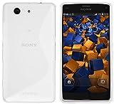 mumbi S-TPU Funda Compatible con Sony Xperia Z3 Compact Caja del teléfono móvil, Blanco Transparente