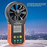 PEAKMETER PM6252B Anemometro Digital Portatil,Multifuncional USB Medidor de Velocidad del Viento para Humedad,Temperatura de Punto de Rocío,Temperatura de Bulbo Húmedo,Velocidad del Viento