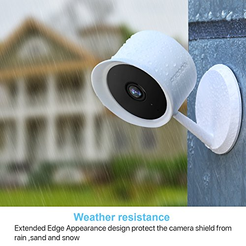 Frienda Silicone Skins Cover for Cloud Cam Security Camera, 2 Pack Protective Camera Cover for Indoor and Outdoor Use (White)