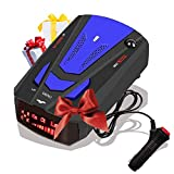 [2021 New Version] Radar Detector for Cars, Laser Radar Detectors, Voice Prompt Speed, Vehicle Speed Alarm System, Led Display, City/Highway Mode, Car 360 Degree Automatic Detection (Blue)