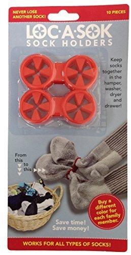 Loc A Sok Sock Locks (Red) by SockLocks