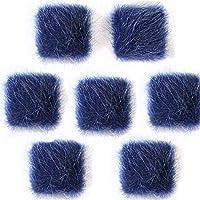 【ブルー】 10個 【メタルパーツ】 スクエア ふわふわ貼り付けパーツ