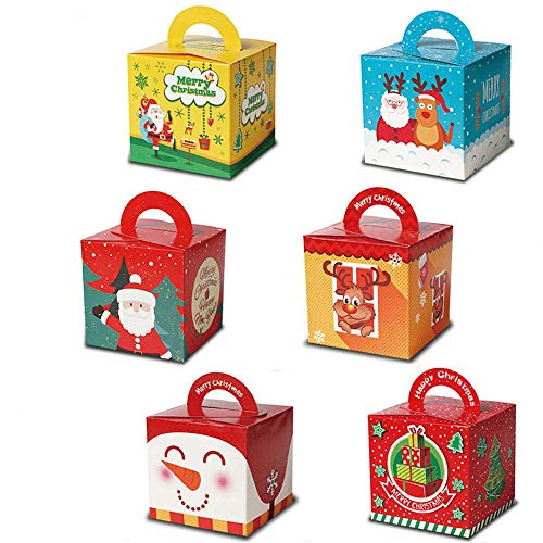 30pcs Christmas Candy Boxes - Gift Candy Gifts Box for Christmas Xmas Presents Sweets Christmas Festival Party