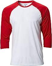 CHAMPRO Complete Game 3/4 Sleeve Baseball Shirt; XL; White