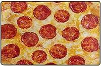 面白いピザデザインスーパーソフトインドアモダンエリアラグふわふわラグダイニングルームホームベッドルームカーペットフロアマットベビーキッズ犬猫80x58インチ-80x58インチ