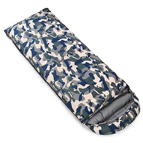 DAFREW Sac de Couchage d'enveloppe, Sac de Couchage extérieur Quatre Saisons avec Sac de Compression (Couleur : Camouflage 3, Taille : 2.1KG)